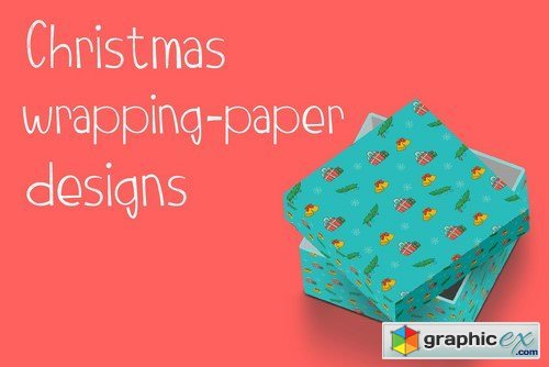Christmas Doodle Wrapping design
