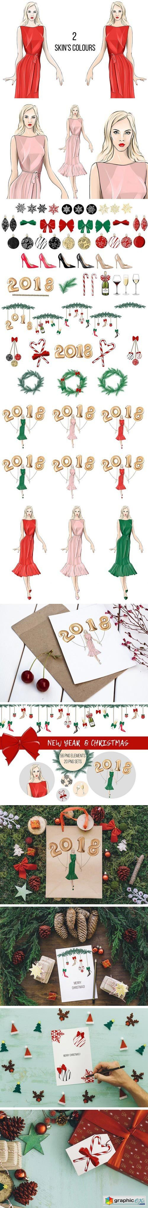 New Year & Christmas Clip Art