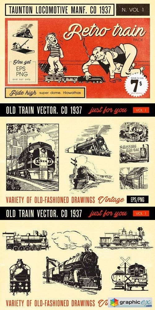 Retro Train Pack