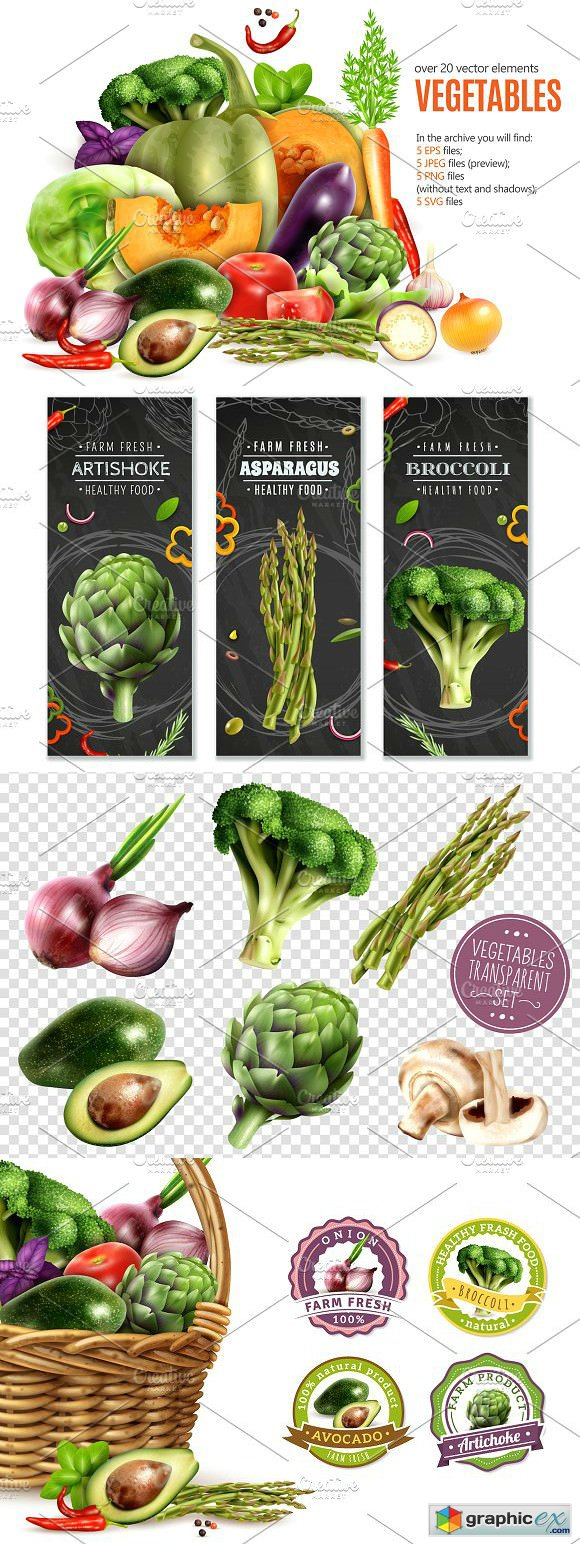 Vegetables Realistic Set