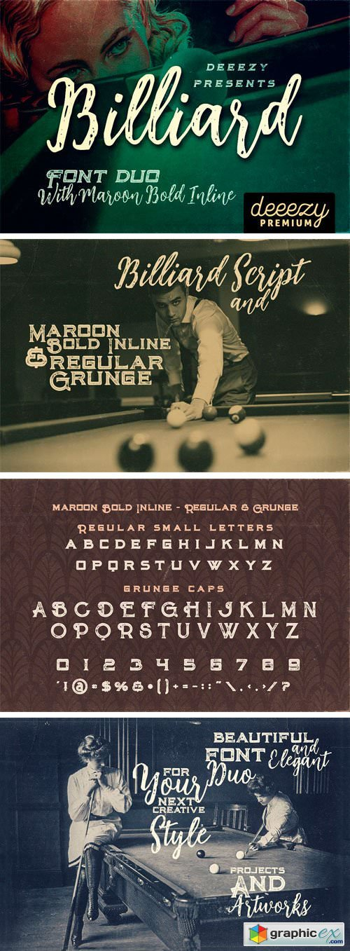 Billiard Font Duo