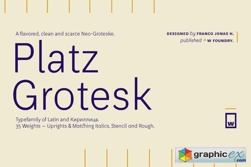 Platz Grotesk Font Family » Free Download Vector Stock Image