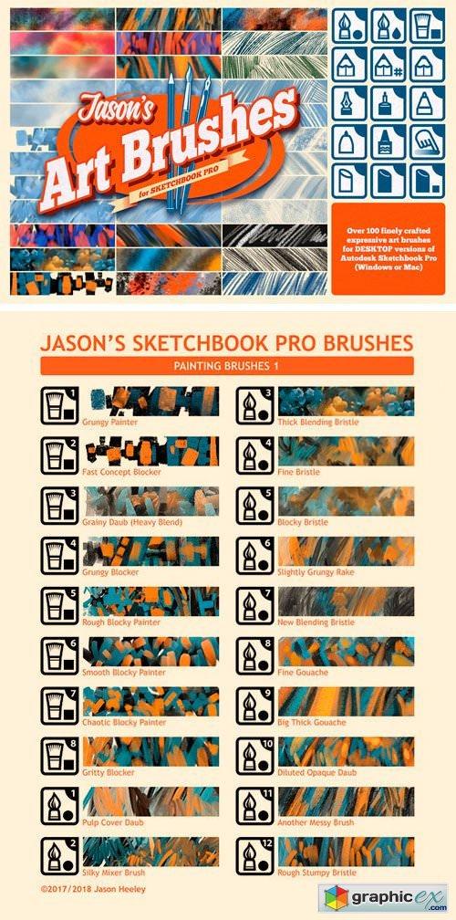 jason u0026 39 s sketchbook pro art brushes  u00bb free download vector