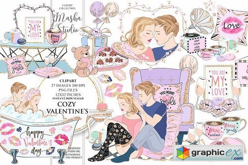 COZY VALENTINE'S DAY clipart