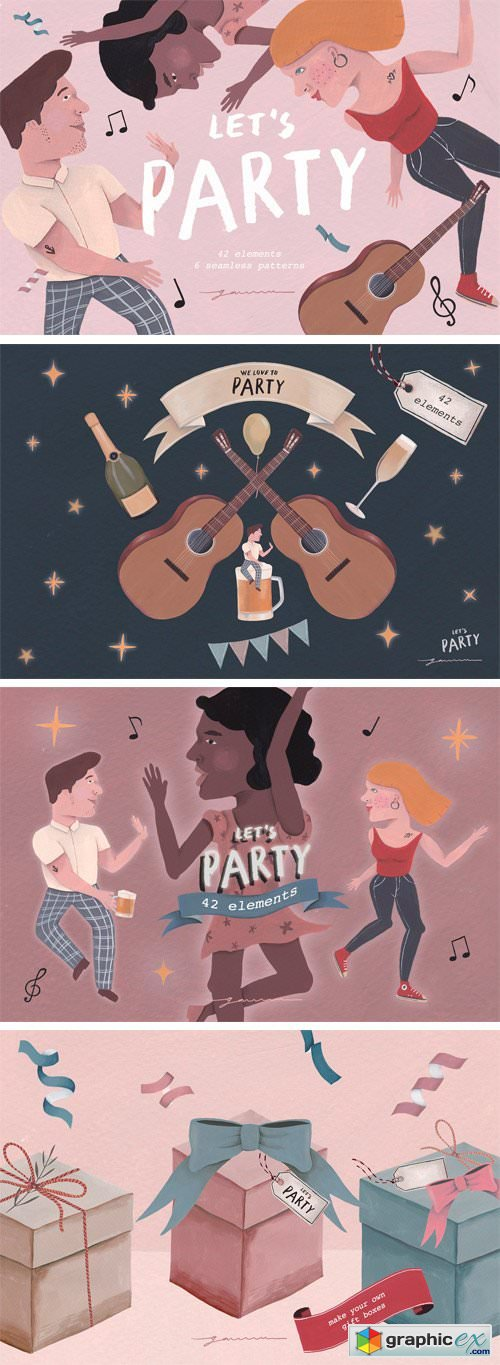 Let's Party! Clipart