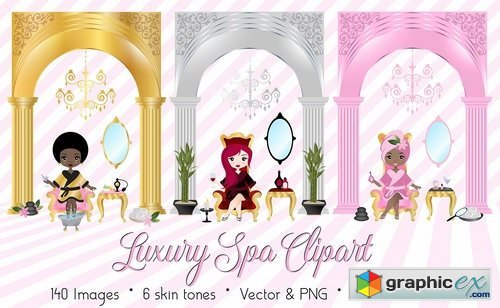 Luxury Spa Day Vector Clipart