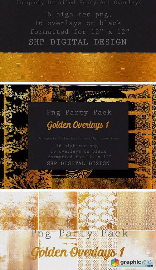 Fancy Golden Overlays: Art Pack 1