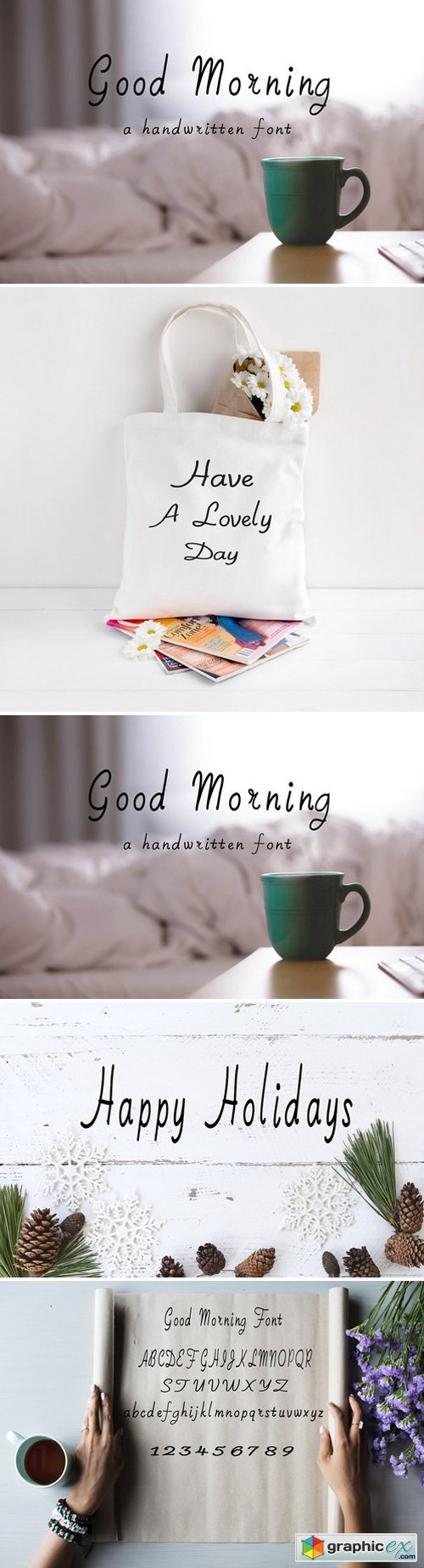 Good Morning Handwritten Font