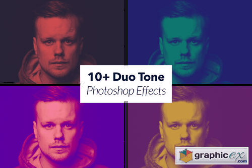 10+ Duo Tone Photoshop Effects