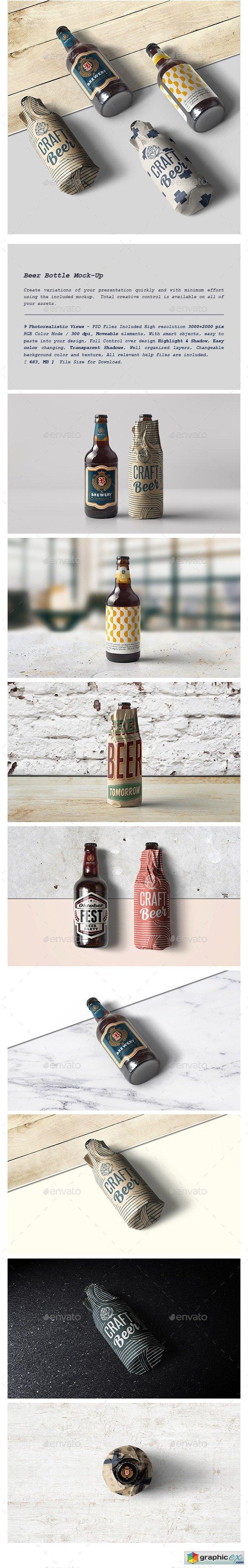Beer Bottle Mock-Up 21398869