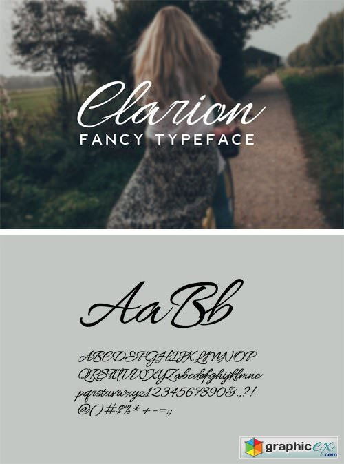 CLARION - Fancy Handwriting Typeface