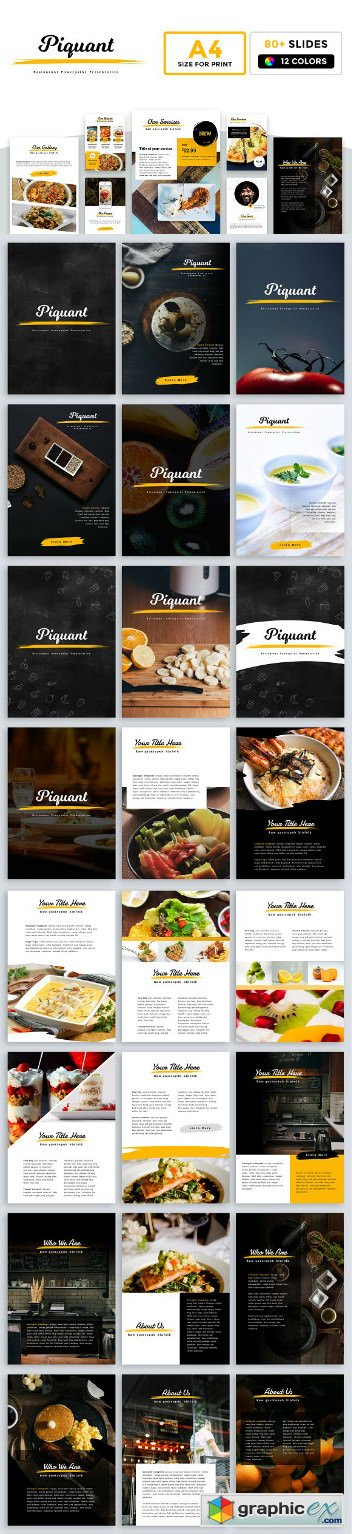 A4 Piquant Powerpoint Template » Free Download Vector Stock