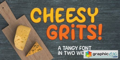 Cheesy Grits Font Family - 2 Fonts