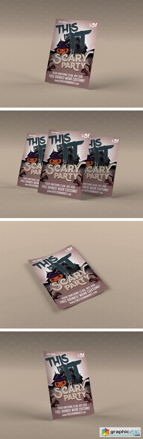 Scary Party Photoshop Flyer Template