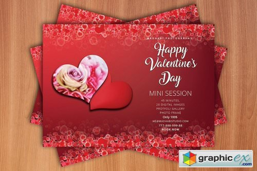 Valentines Day Mini Session Card 2225219
