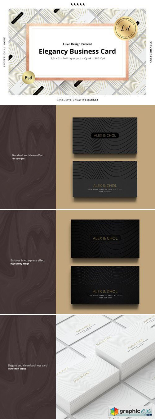 ELEGANCY Business Card Template N�01