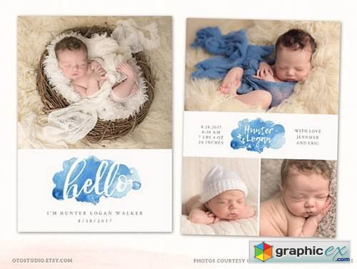 Birth Announcement Template CB118