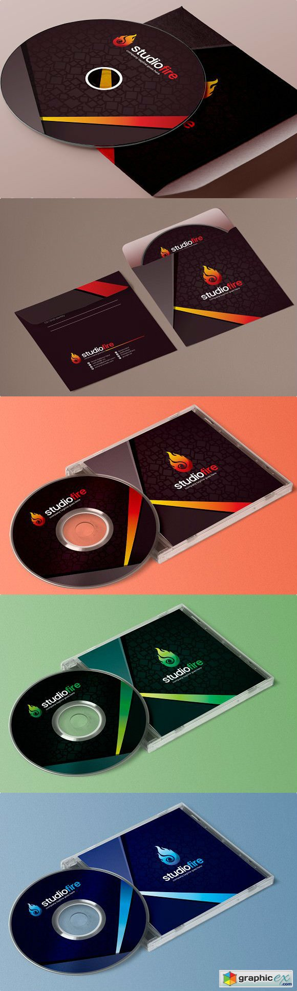 CD DVD Album Cover Design Template