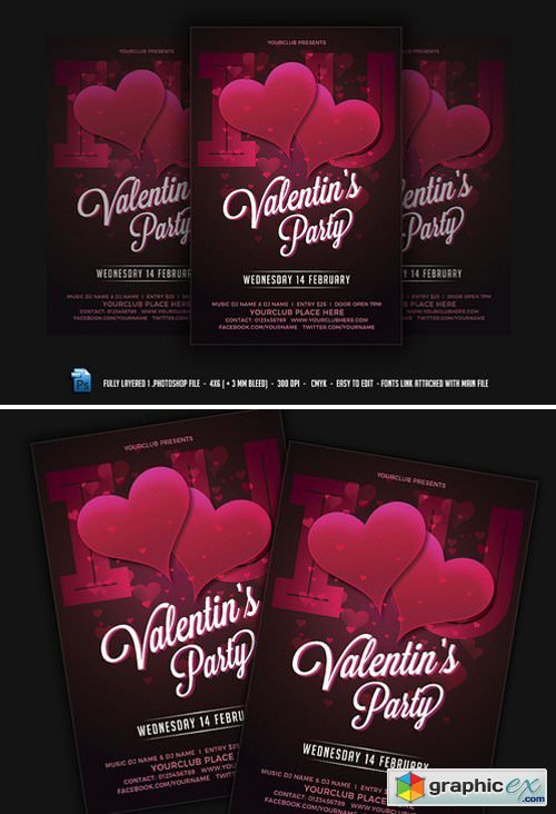 Valentines Day Flyer 2228015