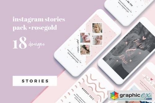 Rosegold Instagram Stories Pack » Free Download Vector Stock