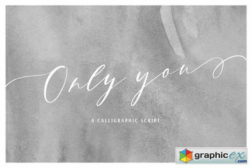 Only You A Calligraphic Script