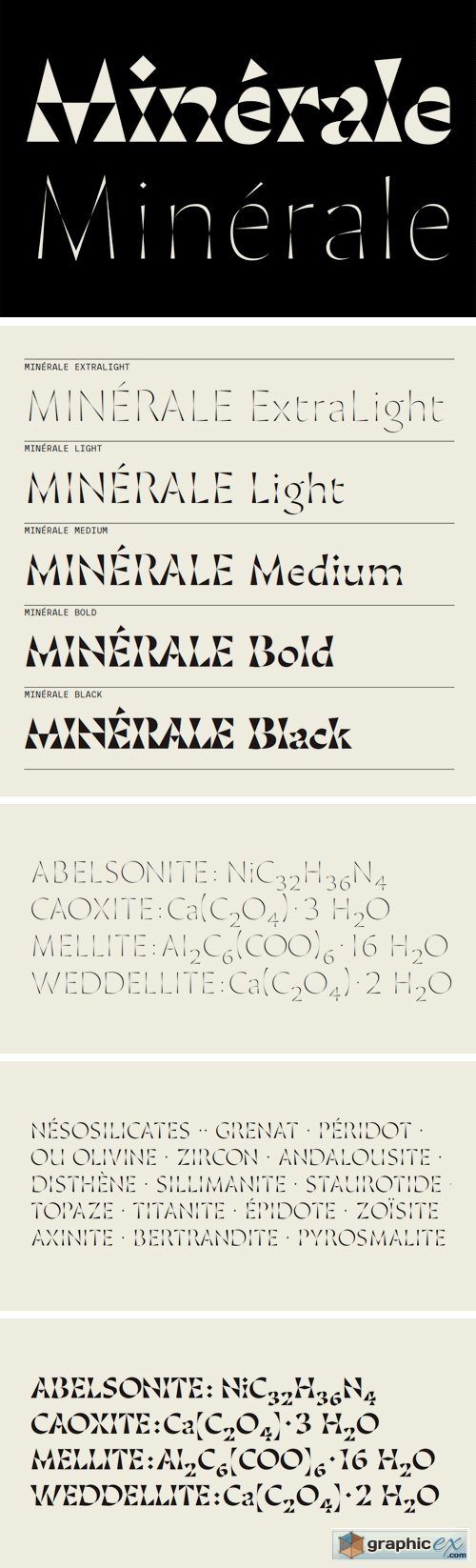 Minerale Font Family