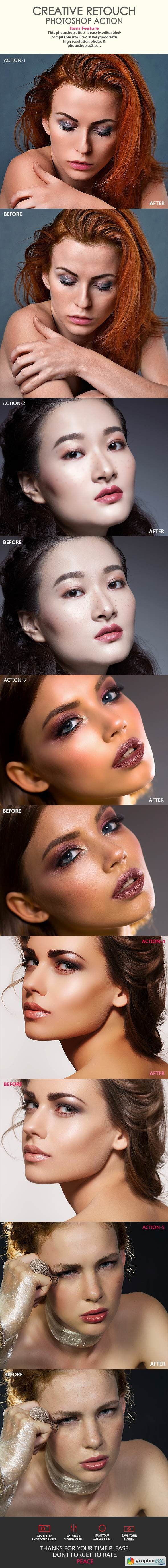 Creative Retouch Photoshop Action Photo Effects