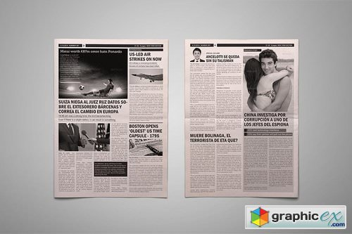 Newspaper Template 2301561 » Free Download Vector Stock Image ...