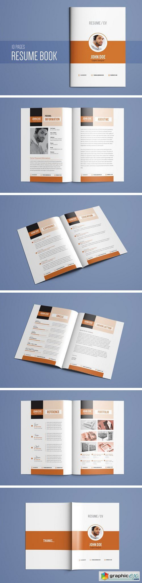 Resume booklet template vol 01 free download vector stock image resume booklet template vol 01 maxwellsz