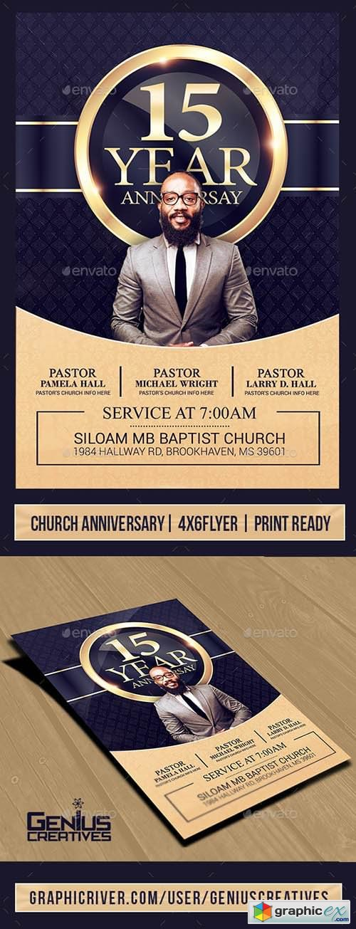 Church Anniversary Flyer Template V3