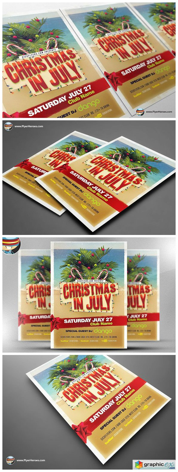 Christmas in July Flyer Template v2