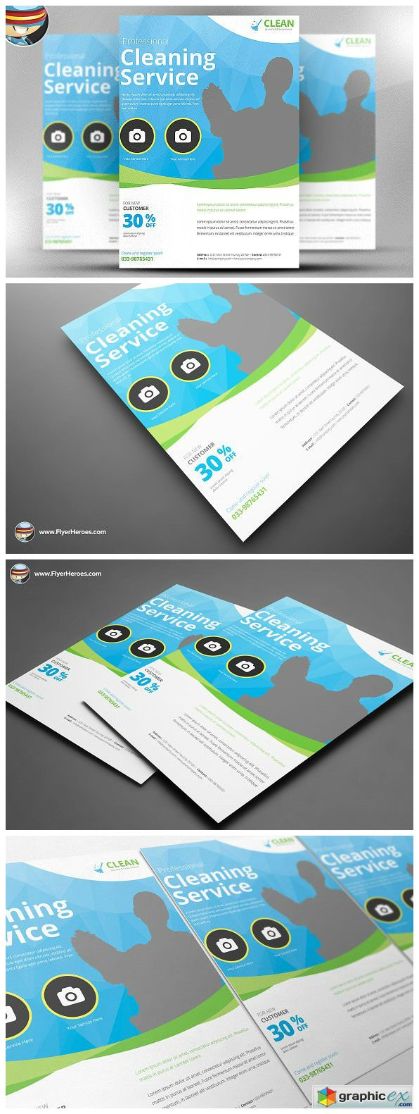 Cleaning Service Flyer Template 2317985