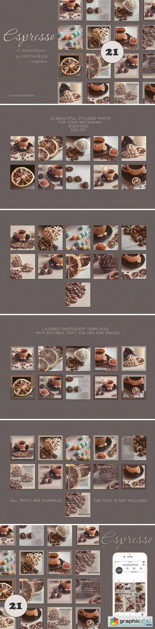 """Espresso"" Photos + templates"