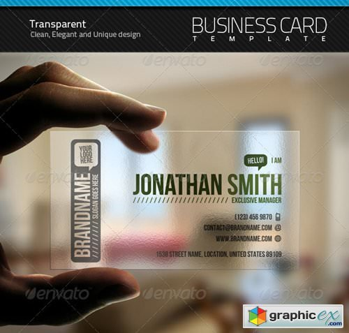 Transparent business card free download vector stock image transparent business card reheart Gallery