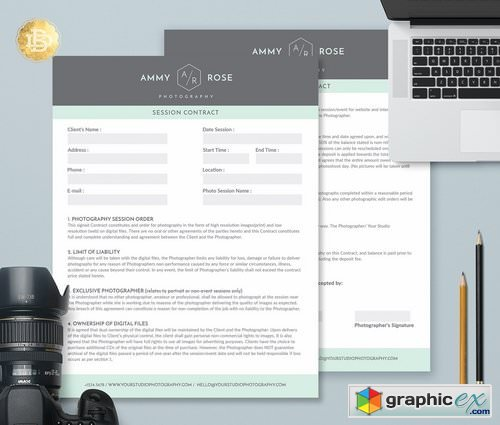 Session Contract Form Template SC002