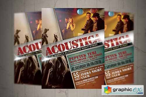 Acoustic Event Flyer Poster 2334992
