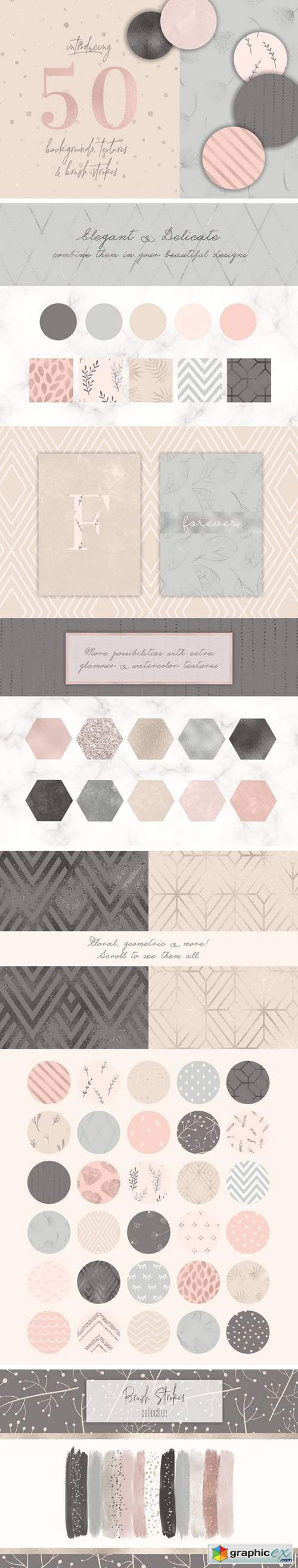50 Delicate Backgrounds & Textures