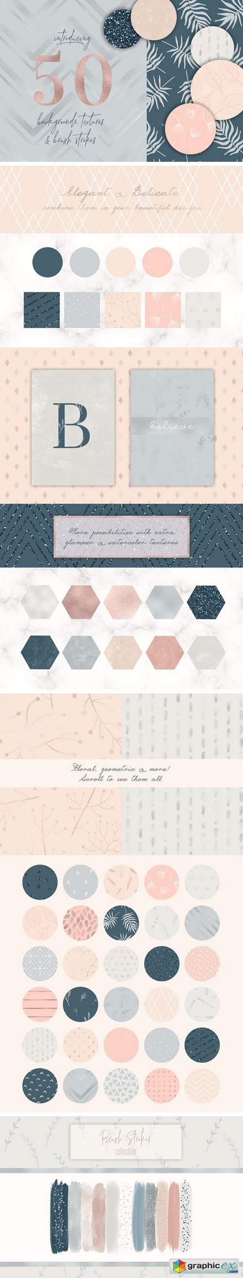 50 Elegant Backgrounds & Textures