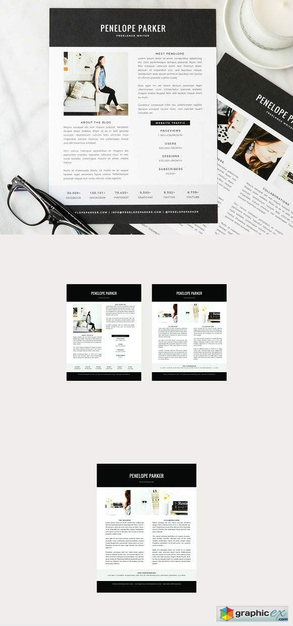 Penelope Media Kit + Resume