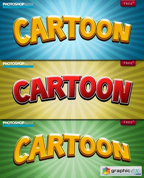 Cartoon Styles for Photoshop ASL » Free Download Vector