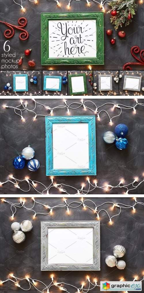 Deck the Halls Frames and Ornaments