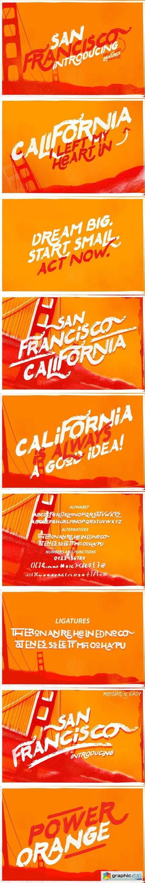 San Francisco Font » Free Download Vector Stock Image