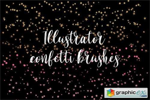 illustrator confetti brushes