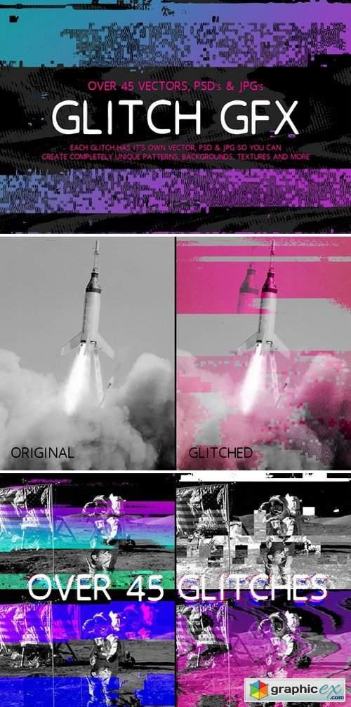 Glitch GFX » Free Download Vector Stock Image Photoshop Icon