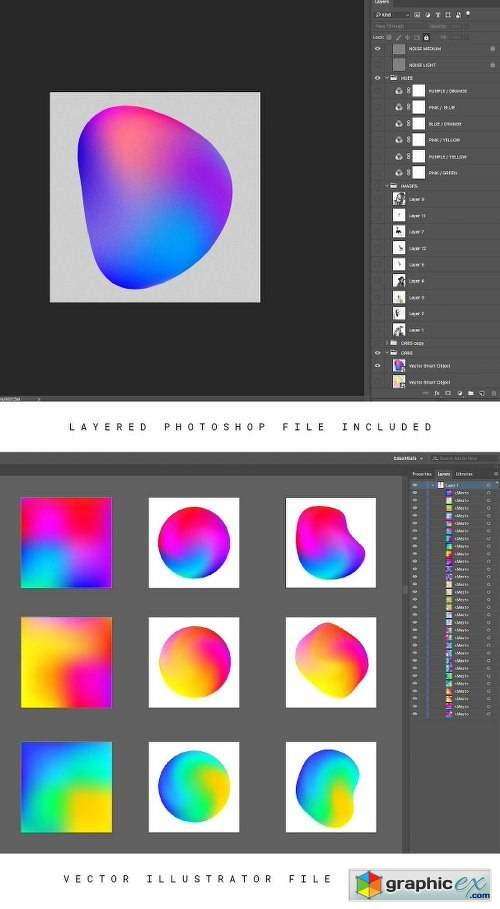 Abstract Gradient Pack 01