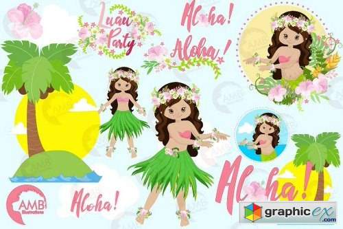 Hawaiian Girls Luan Party AMB-1411