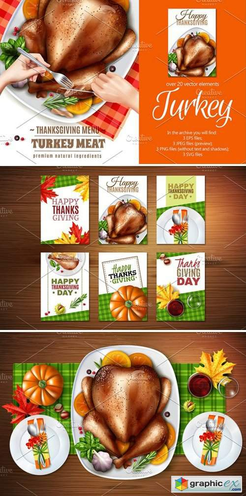 ThanksGiving Turkey Set