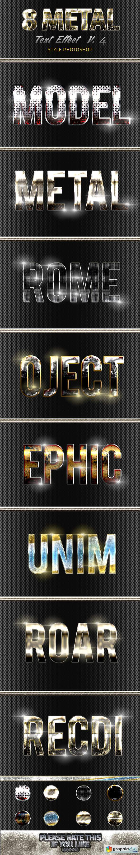 8 Metal Text Effect v4