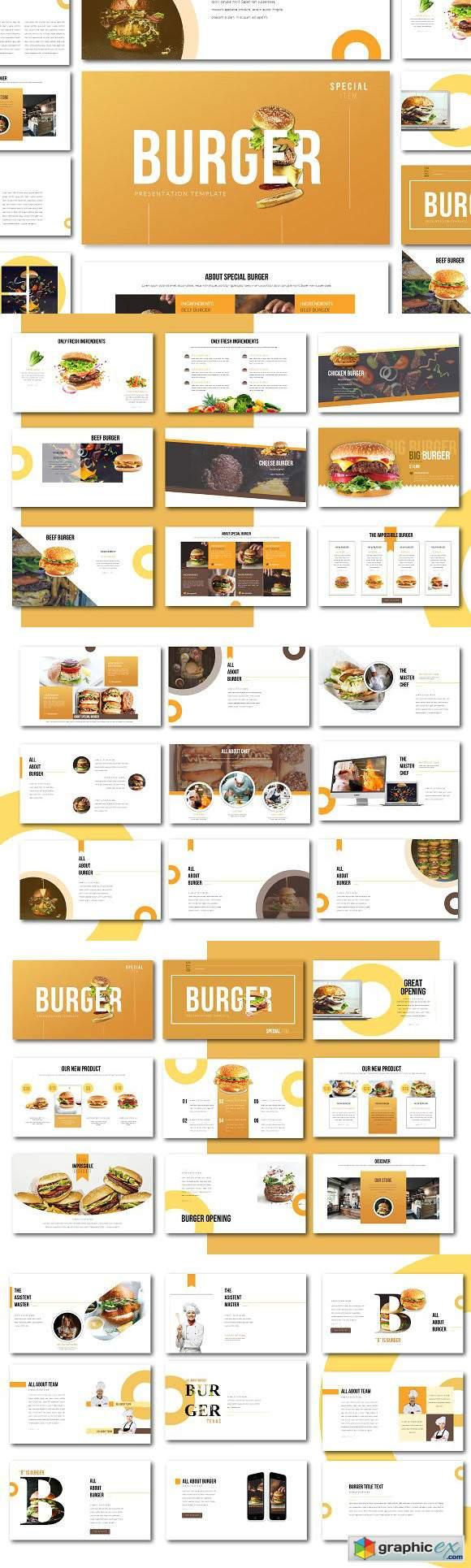special burger keynote presentation  u00bb free download vector