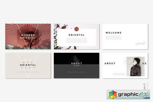 Oriental Powerpoint Template Free Download Vector Stock Image